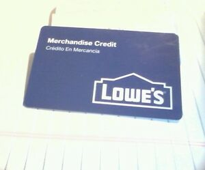 Lowes Merchandise Credit Gift Card 85 45
