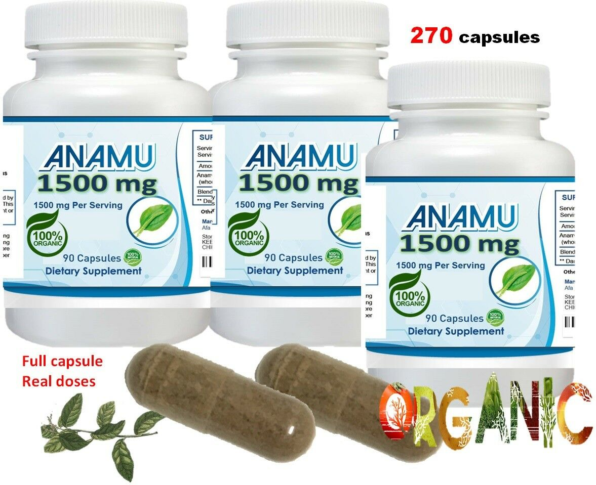 Anamu 100% Organic Petiveria Immune Support detoxification 270 capsule 1500mg 3