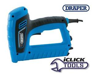 DRAPER Electric Tacker Gun Mains Stapler Staple & Brad Nail Fixing 240v 83658