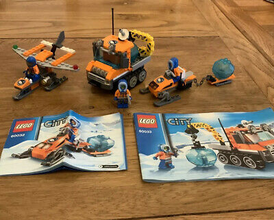 LEGO City Arctic Bundle 60032 60033 30310 Scout, Snowmobile, Crawler (2014)