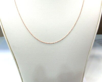 DIAMOND CUT CABLE LINK CHAIN 0.25MM 14K ROSE GOLD ALSO IN 14K YELLOW AND WHITE
