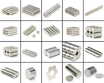 ★TheQ★ Neodym Supermagnet Scheibenmagnete Starke Magnete Polflächen Ø2-Ø100 mm