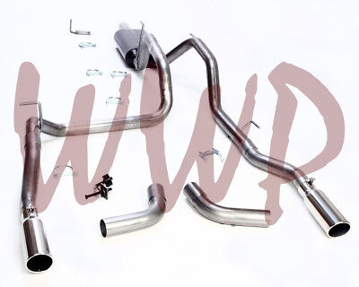 Dual Stainless Cat Back Exhaust System Kit 06-08 Dodge Ram 1500 5.7L Hemi Pickup