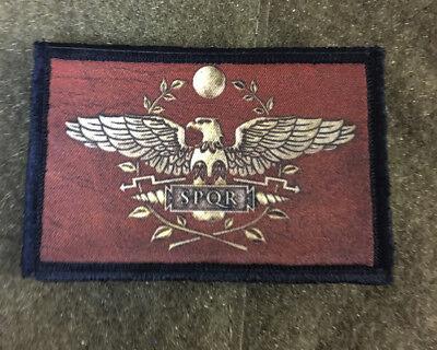 Roman Legion SPQR Morale Patch Military USA Hook Badge Army Flag Hook