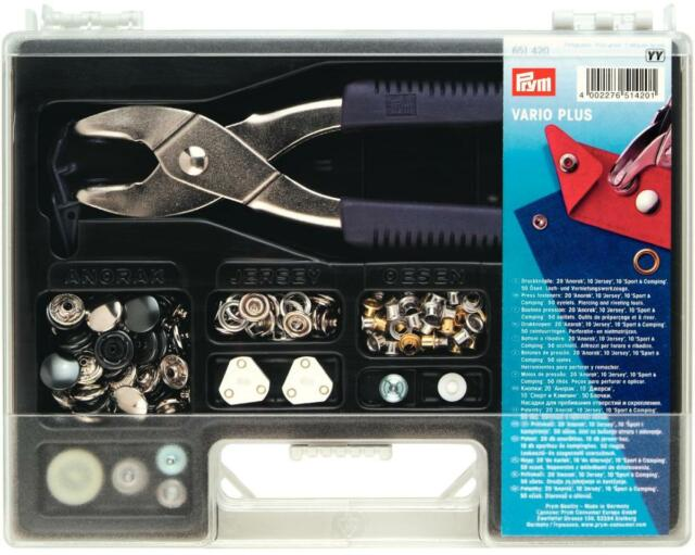 Prym Vario Plus Kit - Contains Pliers,Tools,Eyelets & Press Fasteners 651420