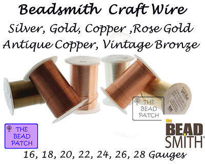 Beadsmith Tarnish Resistant Craft Wire - 6 Colors - 7 Gauges ...