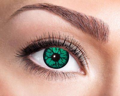 en Monster Green Halloween Karneval Contact Lenses Linsen (Green Monster Halloween Kontaktlinsen)