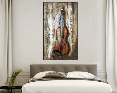 Cuadros 3D Metal Mozart Pintura Soporte Pared Dormitorio / Den / Exterior