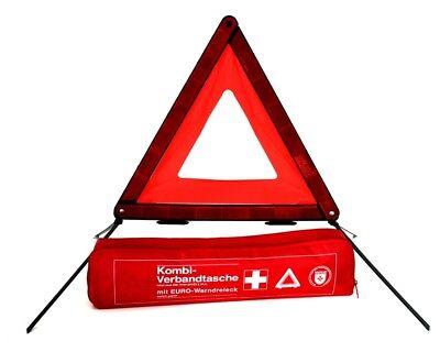 PKW KFZ Kombitasche & Auto Verbandskasten & Warndreieck Set UNFALL ERSTE HILFE