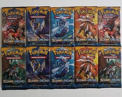 Pokemon Karten Booster 10x Neu 1.Auflage