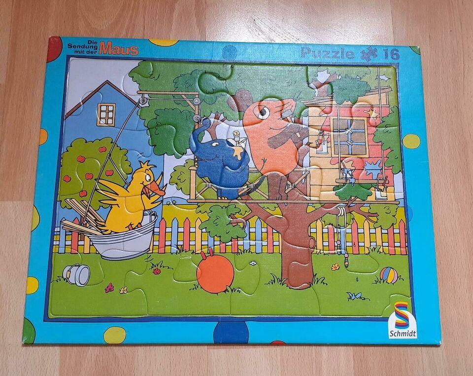 Puzzle 16 Teile Sendung mit der Maus Schmidt in Schleswig-Holstein - Pölitz