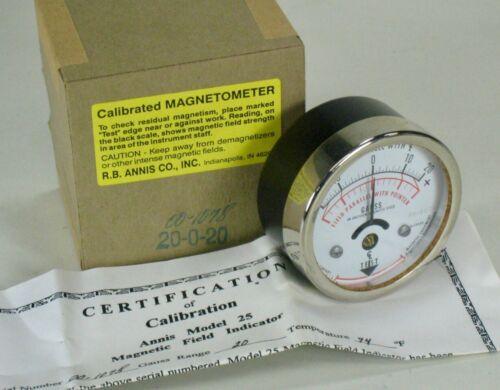 Annis Calibrated Magnetometer Model 25, 20-0-20 Gauss Range