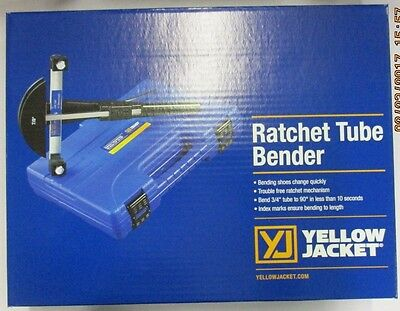 Yellow Jacket Deluxe Ratchet Tube Bender Kit Wreverse Bend Mandrel - 60325