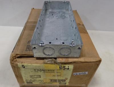 Hubbell 5 5 Gang Box 12 34 Concentric Kos 954 Nib