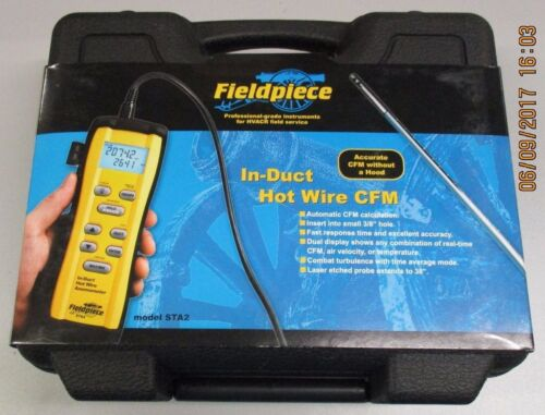 FIELDPIECE IN DUCT HOT-WIRE ANEMOMETER STA2