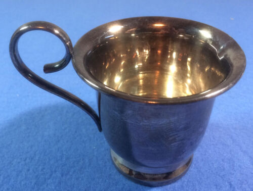 """S&P EPNS silver cup with delicate pour spout - 3"""" tall"""