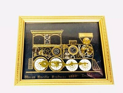 Union Pacific Railroad 1887 Horological Montage David of London Watch Part Art