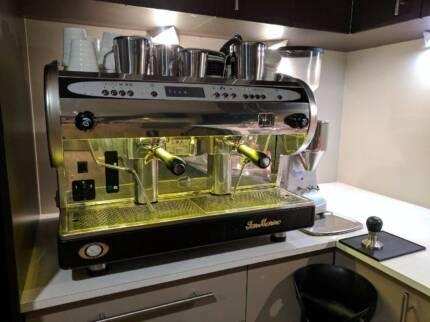 San Marino Lisa 2 Group Coffee Machine w/ Mazzer Grinder