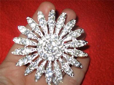 """Large Wedding Bridal Brooch Bouquet Pin Crystal Rhinestone- 2.5"""""""