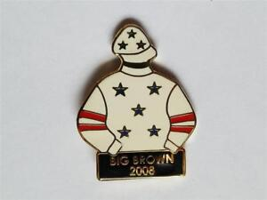 Big Brown Tac Jockey Silks Pin Kentucky Derby Triple Crown horse