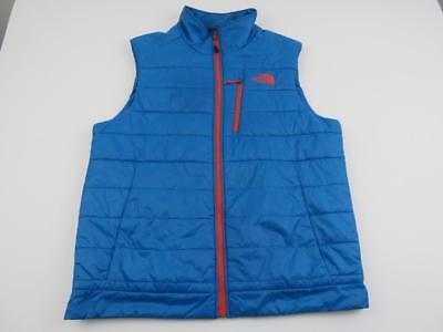North Face Mens Heatseeker Connor Insulated Vest Size Large Danish Blue Jacket