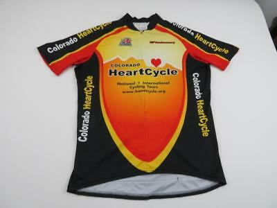 Aussie Mens Colorado Heart Cycle Cycling Bike Shirt Jersey Large Orange  Black 0f79508f9