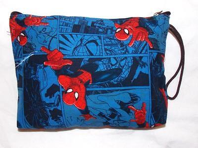 FAIR TRADE SPIDERMAN WASH BAG  MAKE UP CASE FROM MARRAKESH MOROCCO - Spiderman Makeup