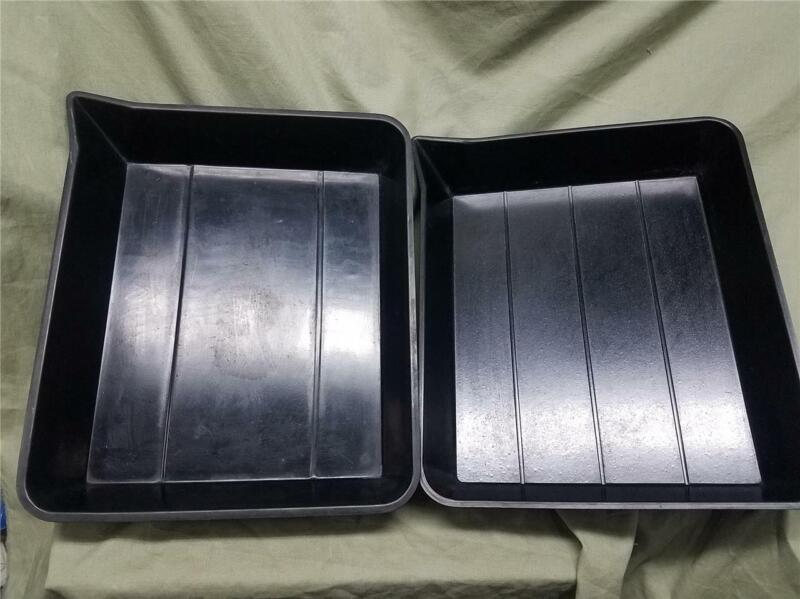 One Pair Vintage Hard Rubber Developing Trays - Kodak and Yankee for 8 X 10