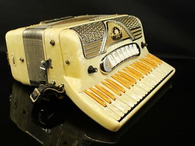 Vintage Luisetti Accordion Made in Italy with Case 41 Keys MOP