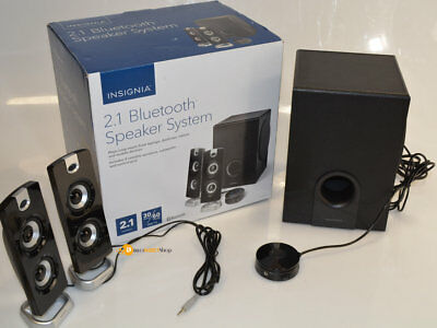 Open Box Insignia Ns Psb4721 2 1 Bluetooth Speaker System Black