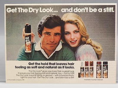 Vintage Magazine Ad Print Design Advertising Dry Look Hairspray
