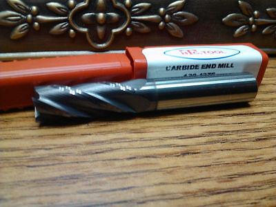 .375 38 4 Flute Single End Altin Coated Carbide End Mill
