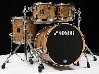 Sonor Prolite 4pc Studio Shell Pack 10/12/14/20 Chocolate Burl