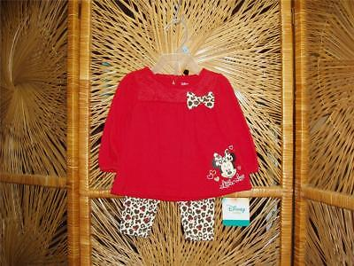 "Disney ""Minnie Mouse"" Dress w/cheetah leggings baby/infant/t"