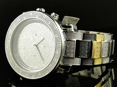 Neu Herren Jojino / Jojo / Joe Rodeo Diamant Ehering Dreifarbiges Uhr IJ-1022 (Jojino Uhren)