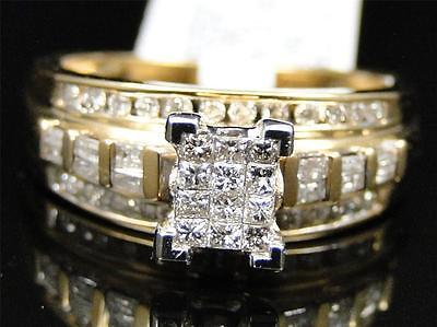 10K Yellow Gold Princess Cut Diamond Engagement Wedding Bridal Ring 1/2 Ct