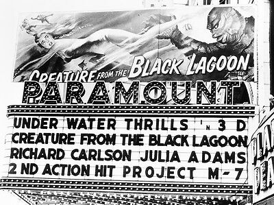 CREATURE FROM THE BLACK LAGOON MOVIE BILLBOARD 8X10 PHOTO