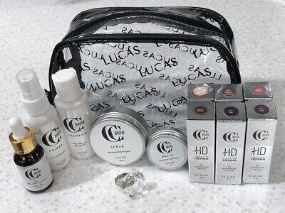 CC Brow Lucas Henna Eyebrow Professional Tinting 6 Tint  Premium -1  12 Pcs Set