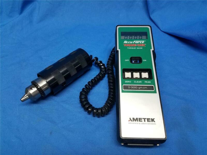 Ametek Accu Force Torque-Chek Digital Torque Gage 0-3000 gm.cm - gram-centimeter