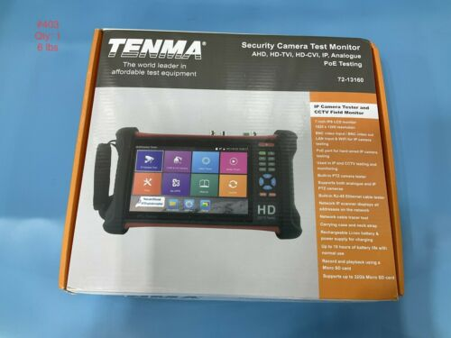 TENMA Security Camera Test Monitor AHD HD-TVI HD-CVI IP PoE 72-13160