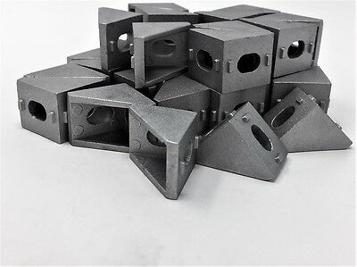 Cast Corner Bracket for V-Rail T-Slot Aluminum Extrusion (Pack of 10)