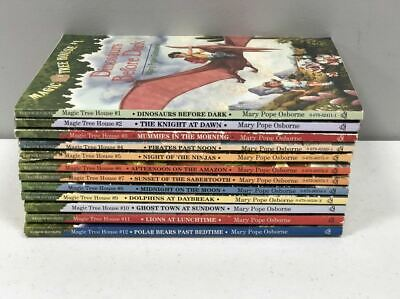 Magic Tree House Book Set 1-12 by Mary Pope Osbourne Reading Book Lot