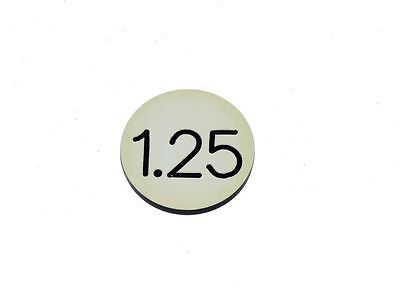 "Lammers Buttons 1.25 Cream Black Lettering  1-1/8"" Gambling Poker 19 Chip Lot"