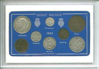 1930 GB Great Britain British Vintage Coin Set (86th Birthday Gift Birth Year)