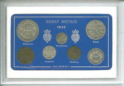 1933 GB Great Britain British Vintage Coin Set (83rd Birthday Birth Year Gift)