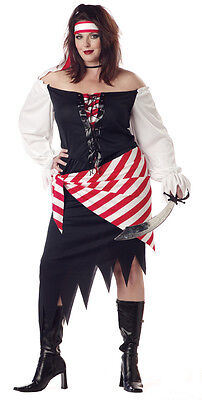 Ruby the Pirate Beauty Plus Size Adult Costume (Plus Size Ladies Pirate Costume)