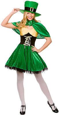 Lucky Leprechaun Kobold Lady Kostüm NEU - Damen Karneval Fasching Verkleidung Ko