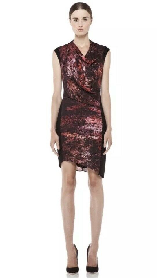 Helmut Lang Midnight Floral Dress