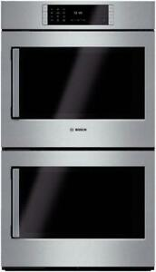 "Bosch HBLP651RUC Benchmark Series 30"" Double Wall Oven Right Swing Door"