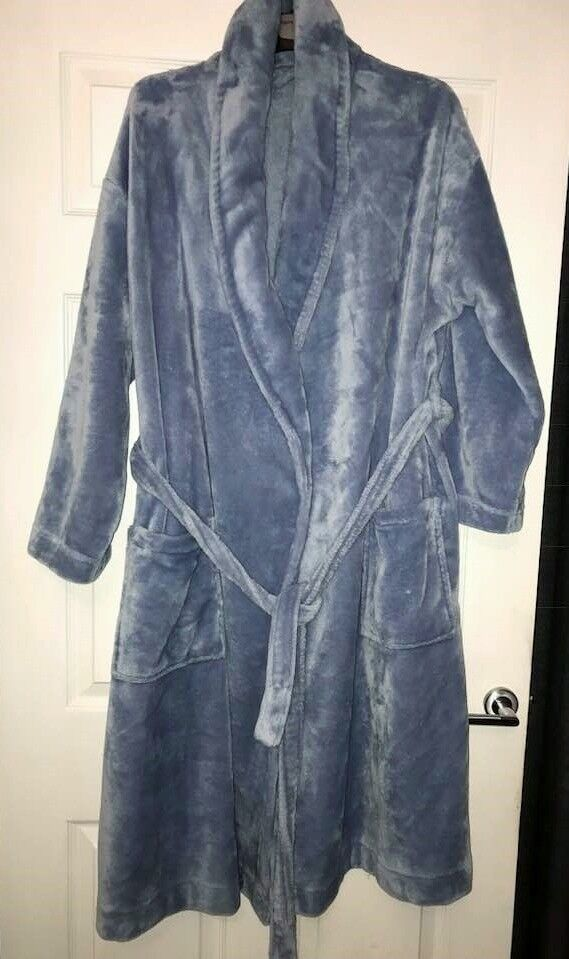 XL Ladies Marks & Spencer Supersoft Housecoat / Dressing Gown. Pale ...